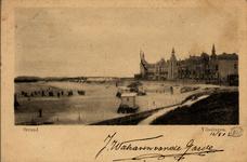 2830 'Strand. Vlissingen'Badstrand en Boulevard Evertsen met Grand Hotel des Bains (later Britannia).
