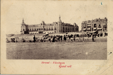 2903 'Strand - Vlissingen. Groet uit'Badstrand en Grand Hotel des Bains (later Britannia) op Boulevard Evertsen.