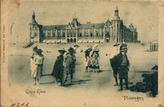 2955 'Grand Hôtel. Vlissingen'Badstrand en Grand Hotel des Bains (later Britannia).