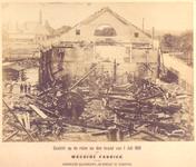 29755 Gezicht op de ruïne na de brand van 1 juli 1881 van de machinefabriek van de Koninklijke Maatschappij de Schelde ...