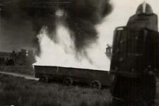 31938 Oefening van de Vlissingse brandweer op het terrein van de Vlismar aan de Prins Hendrikweg in Vlissingen. Het ...