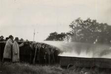 31940 Oefening van de Vlissingse brandweer op het terrein van de Vlismar aan de Prins Hendrikweg in Vlissingen. Het ...
