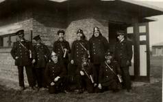 31949 Oefening van de Vlissingse brandweer op het terrein van de Vlismar aan de Prins Hendrikweg in Vlissingen. Het ...