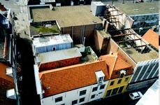 34058 Sloop van het op 30 december 1995 uitgebrande pand aan de Oude Markt in Vlissingen, grenzend aan de Spuistraat en ...