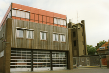 43141 Achterzijde van de brandweerkazerne aan de Van Dishoeckstraat, gezien vanaf de Van de Spiegelstraat in Vlissingen