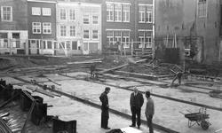 43414 Sloop van het politiebureau in de Breestraat in Vlissingen, bouwjaar 1910 en nieuwbouw in de Molenstraat, hoek ...