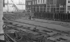 43415 Sloop van het politiebureau in de Breestraat in Vlissingen, bouwjaar 1910 en nieuwbouw in de Molenstraat, hoek ...