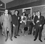 43416 Opening van het nieuwe politiebureau in de Molenstraat, hoek Breestraat in Vlissingen op 21 januari 1970. Een ...