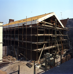 53599 Sloop van het politiebureau in de Breestraat in Vlissingen, bouwjaar 1910 en nieuwbouw in de Molenstraat, hoek ...
