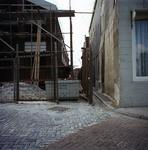 53602 Sloop van het politiebureau in de Breestraat in Vlissingen, bouwjaar 1910 en nieuwbouw in de Molenstraat, hoek ...