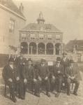 55943 Praalwagen 'Het Oude Beursgebouw van Vlissingen' voor de optocht ter gelegenheid van de Landbouwtentoonstelling ...