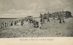 57533 'Grand Hôtel en Villa's aan 't strand te Vlissingen'. Badstrand en Boulevard Evertsen met het Grand Hotel des ...