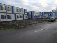 59488 Studentenunits aan de noordzijde van het Dok bij het stadpark Scheldekwartier in Vlissingen. Deze in totaal 135 ...