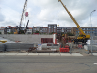 59542 Bouw van een nieuwe grote zaal bij bioscoop CineCity in Vlissingen aan de Spuikomweg 1. Het bestaande ...