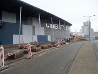 59543 Bouw van een nieuwe grote zaal bij bioscoop CineCity in Vlissingen aan de Spuikomweg 1. Het bestaande ...