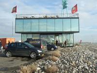 59584 Dijkpaviljoen 't Puntje, de restaurant-snackbar van Natasja Bijkerk, op de punt van de Eilanddijk (havendam) aan ...