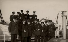 9503 De Vlissingse brandweer op de boot naar Breskens voor een brandweeroefening in Deinze in België