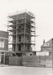 9859 Bouw van de nieuwe brandweercentrale in de Van Dishoeckstraat, gezien vanaf de Van de Spiegelstraat in Vlissingen