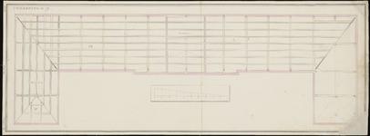 103 [Plan voor bouw Gasthuis; balkenlaag verdiepingsvloer]