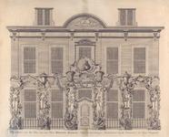 1082 Praalboog voor het huis van den Heer Bernard Mauritz, Raad en Oud Schepen