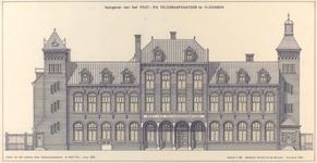 1191 Voorgevel van het post- en telegraaf/kantoor te Vlissingen