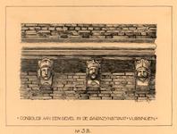 1208 Consoles aan een gevel in de Sarazijnstraat - Vlissingen