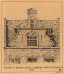 1355 Gedeelte eener gevel Groote markt Vlissingen No 5