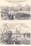 1752 1 The royal yacht, with the king of holland, entering the new docks at flushing = Het koninklijke jacht met de ...
