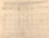 179 [Technische tekening van de Beursbrug]