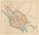 2024 Plattegrond van de stad Vlissingen.