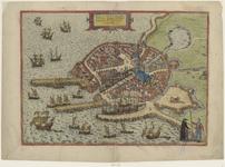 2154 Flissinga munitissium Zelandiae oppidum, tutissium Nautarum et Naucleorum domicilium. [Plattegrond van Vlissingen ...
