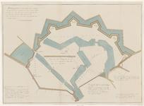 2189 Plattegrond van de stad Vlissingen, waarop met lijnen aangegeven is de oorspronkelijke grootte vóór 1572, benevens ...