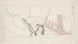 2204 [Plattegrond van Vlissingen met daarop aangegeven de verschillende havens, die Vlissingen in de loop der tijd ...