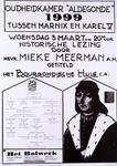 2282 Oudheidkamer Aldegonde 1999 tussen Marnix en Karel V ..historische lezing ..getiteld het Bourgondische Huis c.a.