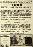2287 Oudeheidkamer Aldegonde 1999 tussen Marnix en Karel V .. Première videofilm 12-XII oftewel de Marnixherdenking ...