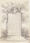 2314 [Grafzuil van Jacobus Bellamy met 13-regelige ode aan Bellamy, met bovenaan het jaar 1786 met puto]