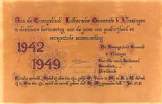 2392 Aan de Evangelisch Luthersche Gemeente te Vlissingen in dankbare herinnering aan de jaren van gastvrijheid en ...