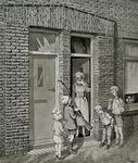 2493 (Cees van der Burght toont zijn moeder een geweer)