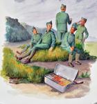 2525 (Nederlandse militairen onderaan de duinen nabij Vlissingen)