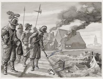 287 (Plundering, brandschatting en verkrachting door Spaanse soldaten)