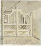 3208 houten hek ingang op de 1e verdieping arsenaal Vlissingen