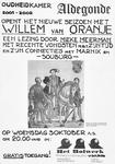 3533 [Oudheidkamer Aldegonde opent het nieuwe seizoen met Willem van Oranje. Een lezing door Mieke Meerman met recente ...