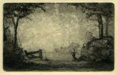 3690 [Weiland met op de achtergrond een boerderij]