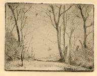 3693 [Landschap met bomen met op de achtergrond een boerderij]