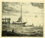 3727 [zeegezicht met schepen]