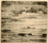 3734 [zeegezicht met schip]