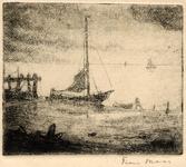 3735 [zeegezicht met schepen]
