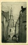 3736 (Gezicht op de Sint Jacobstoren vanuit de Sarazijnstraat]