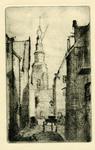 3737 [Gezicht op de Sint Jacobstoren vanuit de Sarazijnstraat]