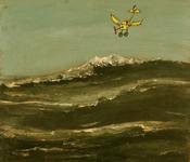3886 [Suusje Pietz vliegt boven zee]